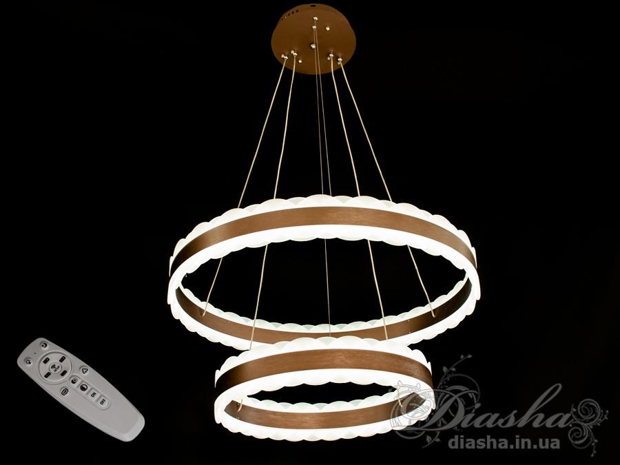 Современная светодиодная люстра с диммером, 180WСветодиодные люстры, Люстры LED, Подвесы LED, Новинки