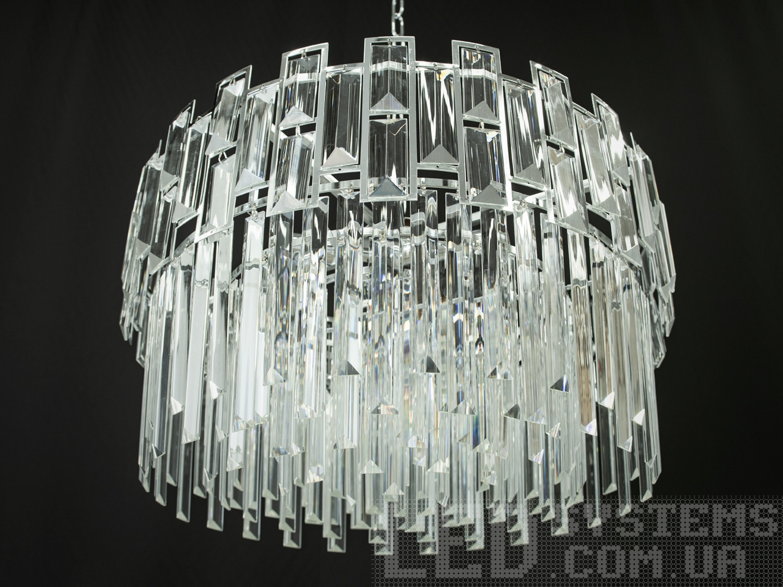 Современная хрустальная люстра в комнату, цвет хром, на 5 ламп. Современная хрустальная люстра в комнату, цвет хром, на 5 ламп Всего за 4140грн.