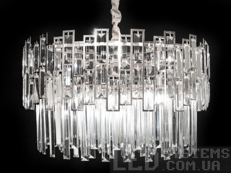 Хрустальная люстра -подвес в современном стиле для зала, цвет хром, на 5 ламп. Хрустальная люстра -подвес в современном стиле для зала, цвет хром, на 5 ламп Всего за 4140грн.