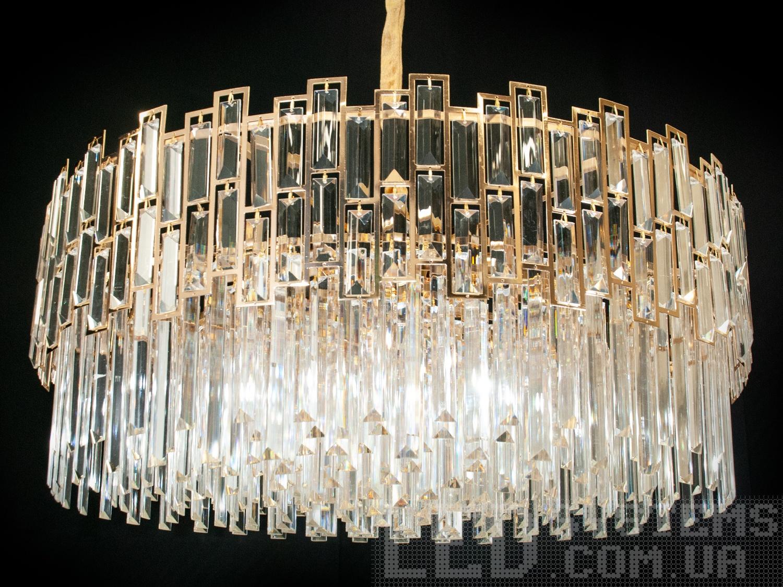 Современная хрустальная люстра-подвес для зала, цвет золото, на 12 ламп. Современная хрустальная люстра-подвес для зала, цвет золото, на 12 ламп Всего за 6900грн.