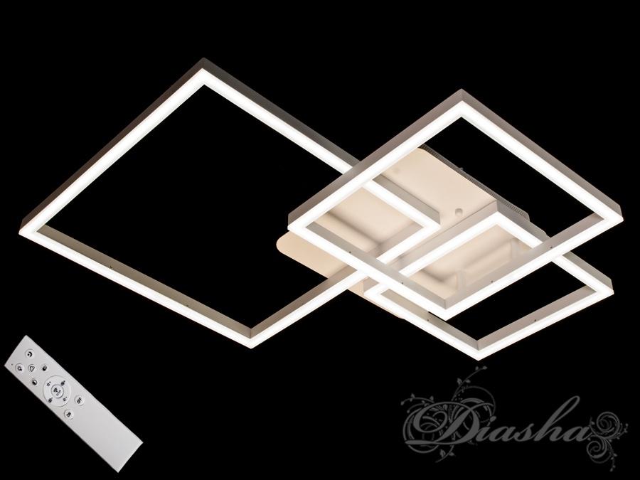 Потолочная LED-люстра с диммером, 105WПотолочные люстры, Светодиодные люстры, Люстры LED, Потолочные, Новинки