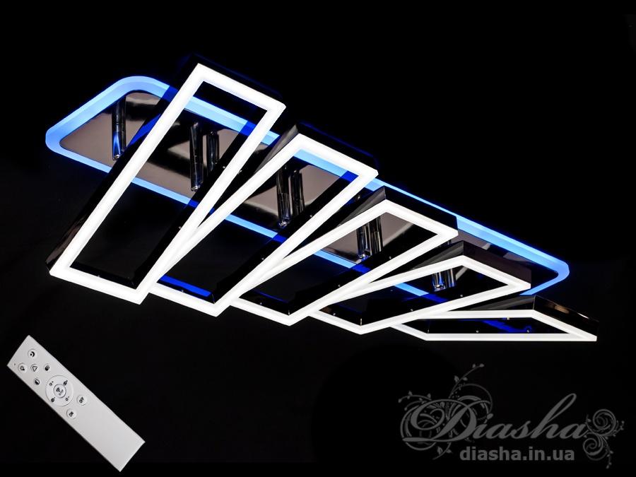 Потолочная люстра с диммером и LED подсветкой, цвет чёрный хром, 135WПотолочные люстры, Светодиодные люстры, Люстры LED, Потолочные, Новинки