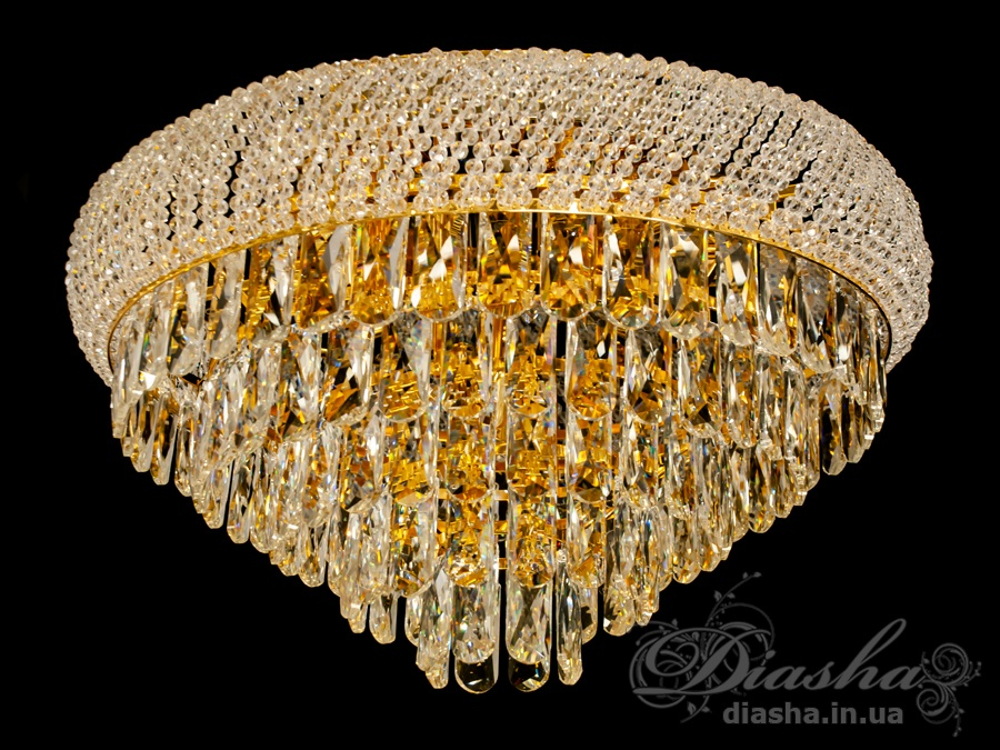 Современная потолочная хрустальная люстра на 13 лампЛюстры классика, Хрустальные люстры