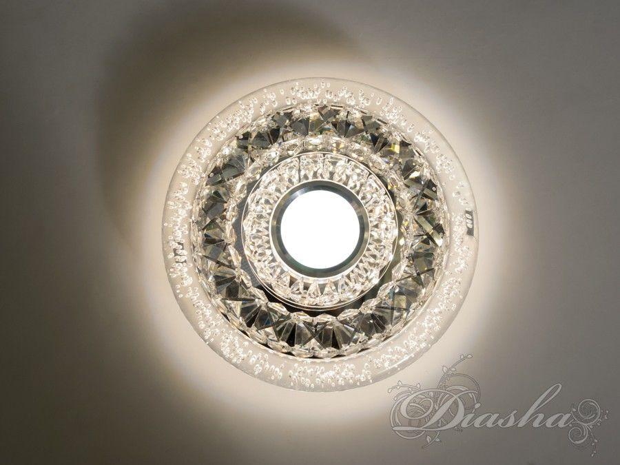 Хрустальный светодиодный точечный светильникВрезка, Точечные светильники, Хрустальные точечные светильники, Накладные точечные светильники