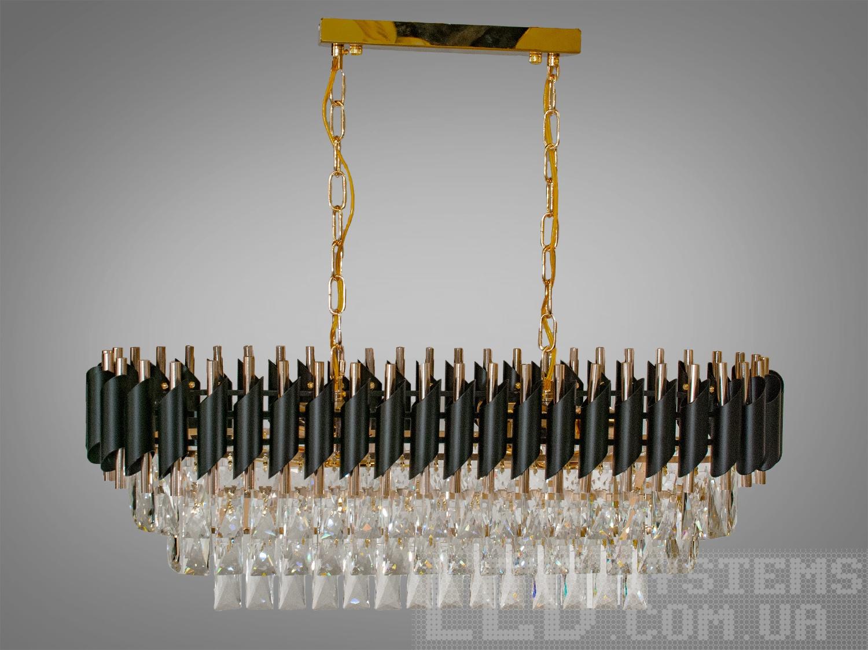 Хрустальная люстра овальной формы для гостинойЛюстры классика, Серия 1013, Хрустальные люстры, Новинки