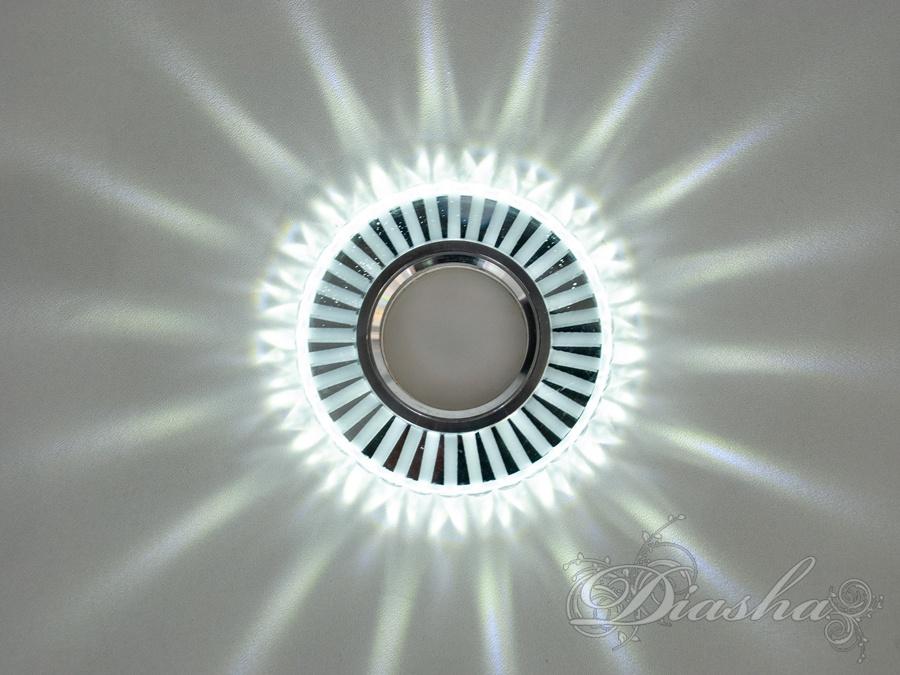 Светильник со встроенной светодиодной подсветкойВрезка, Точечные светильники из оптической смолы,Точечные светильники, Точечные светильники MR-16, Новинки