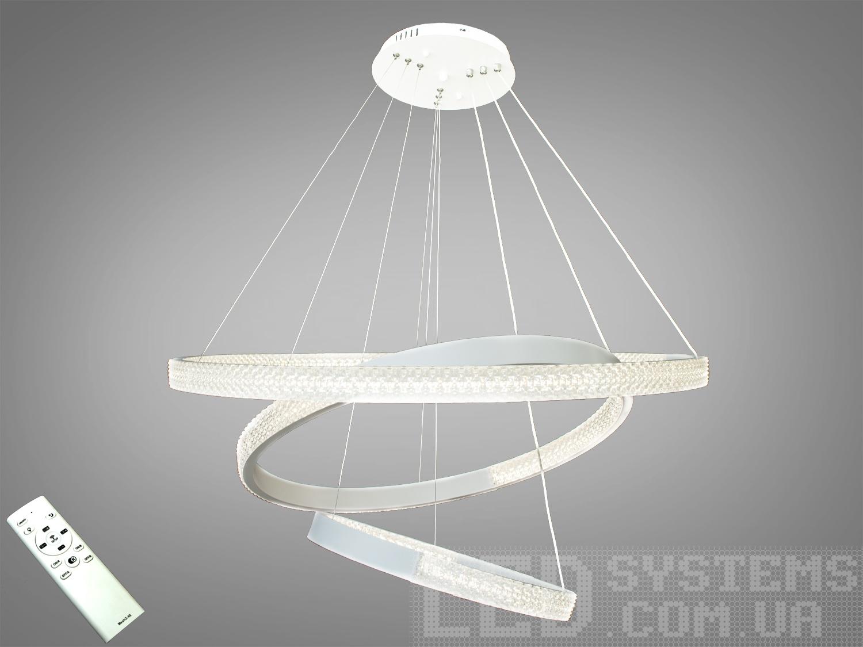 Современная светодиодная люстра с диммером, 165WСветодиодные люстры, Люстры LED, Подвесы LED, Новинки