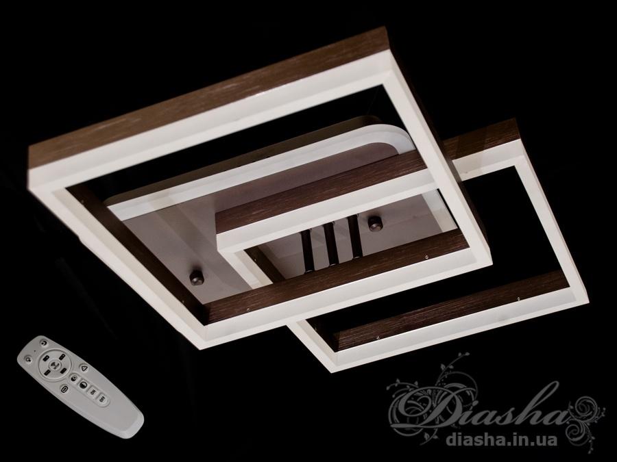 Потолочная LED-люстра с диммером и подсветкой, 95WПотолочные люстры, Светодиодные люстры, светодиодные панели, Люстры LED