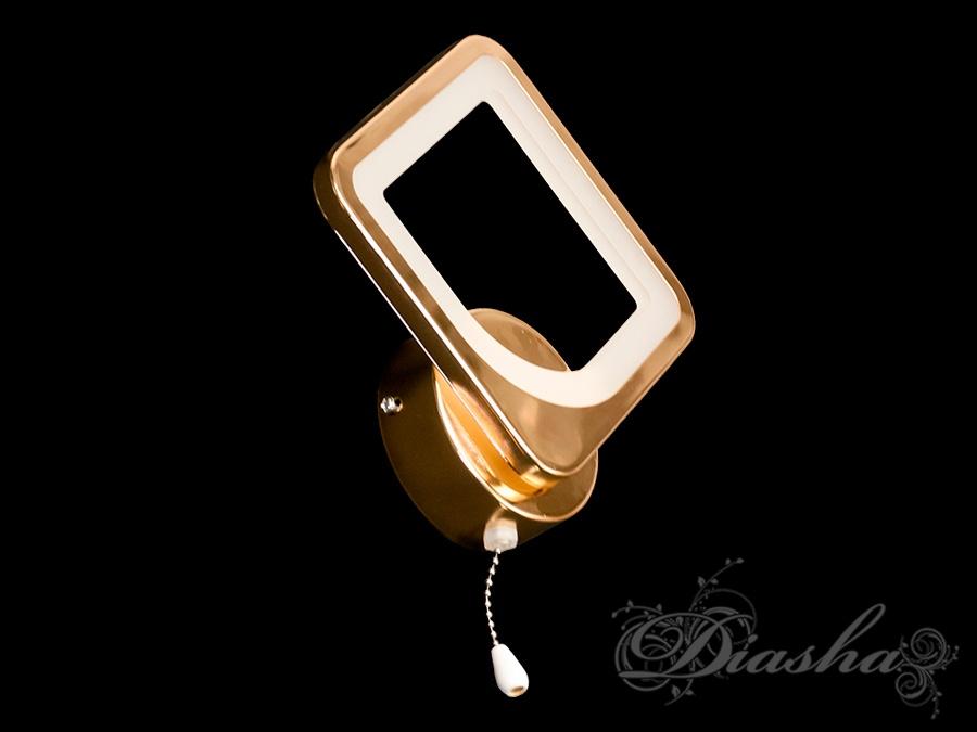 Светодиодное бра, цвет золото, 12WСветодиодные бра