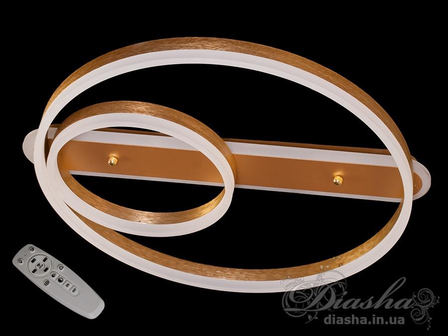 Потолочная LED-люстра с диммером и подсветкой, 65WПотолочные люстры, Светодиодные люстры, светодиодные панели, Люстры LED