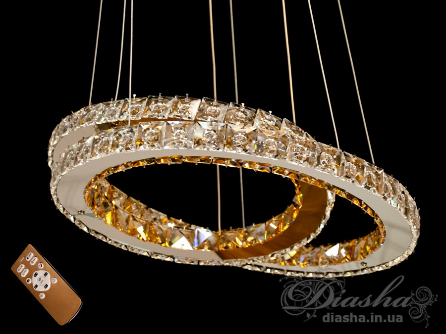 Хрустальная светодиодная люстра-подвес, 60WСветодиодные люстры, Люстры LED, Подвесы LED, Новинки