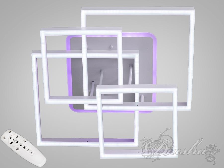 Потолочная светодиодная люстра с диммером 145WПотолочные люстры, Светодиодные люстры, Люстры LED, Потолочные, Новинки