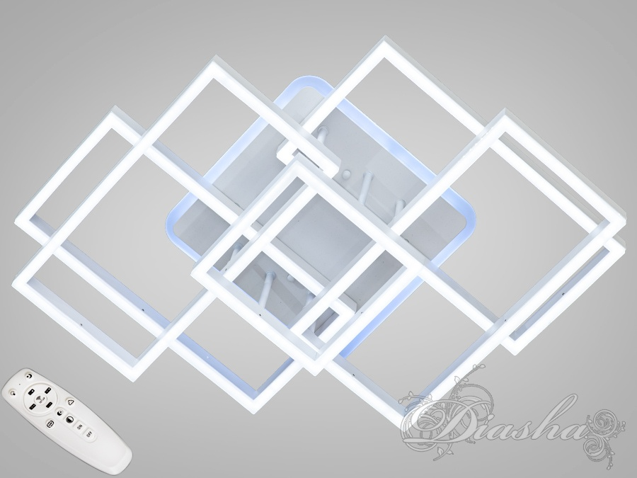 Потолочная светодиодная люстра с диммером 170WПотолочные люстры, Светодиодные люстры, Люстры LED, Потолочные, Новинки