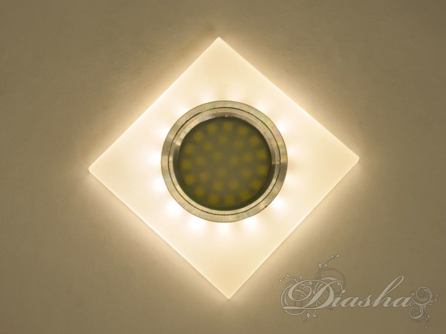 Акриловый точечный светильник со встроенной LED подсветкойВрезка, Точечные светильники, Точечные светильники MR-16