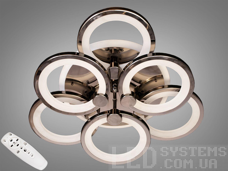 LED-люстра с диммером и RGB подсветкой, 90WСерия 8022, Потолочные люстры, Светодиодные люстры, Люстры LED, Потолочные, Новинки