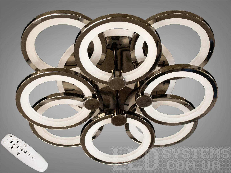 LED-люстра с диммером и RGB подсветкой, 140WСерия 8022, Потолочные люстры, Светодиодные люстры, Люстры LED, Потолочные, Новинки