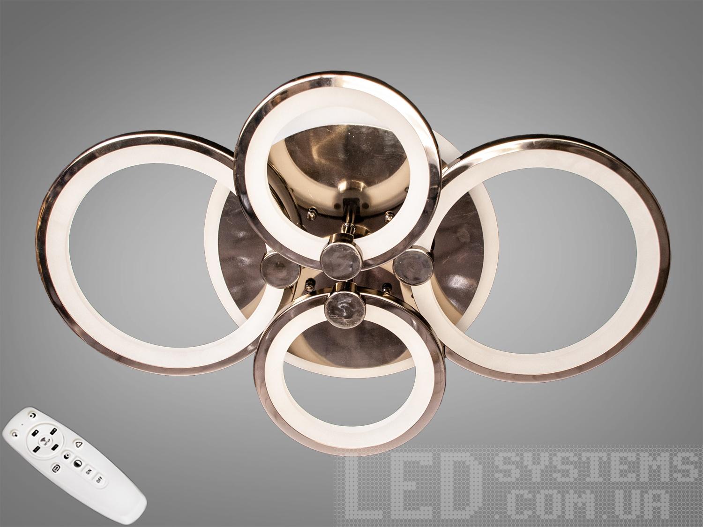 LED-люстра с диммером и RGB подсветкой, 75WСерия 8022, Потолочные люстры, Светодиодные люстры, Люстры LED, Потолочные, Новинки
