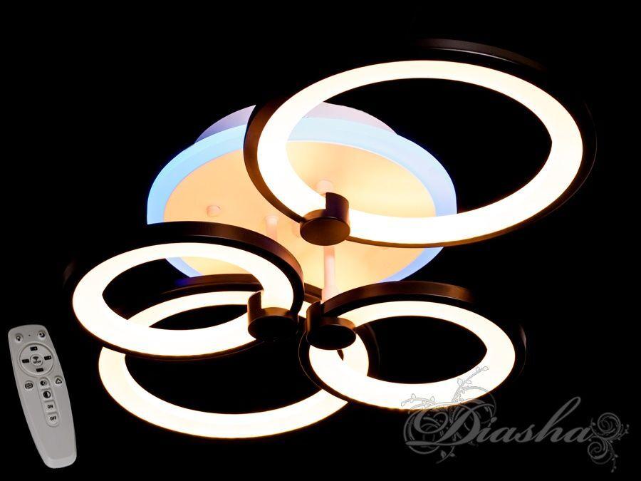 Потолочная LED-люстра с диммером и подсветкой, 80W. Потолочная LED-люстра с диммером и подсветкой, 80W Всего за 1600грн.