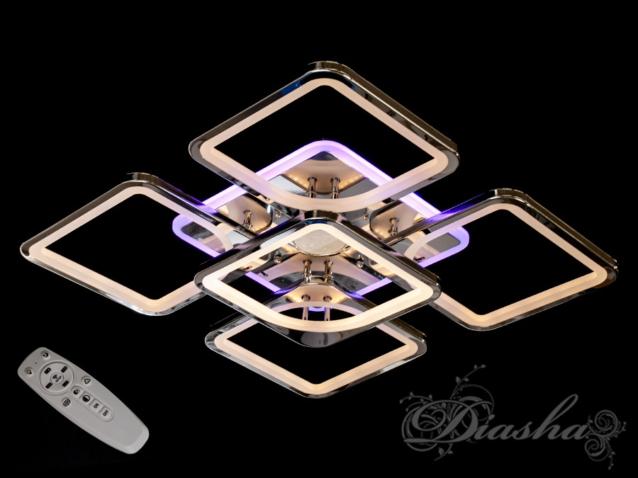 Потолочная люстра с диммером, подсветкой и MP3, 155WПотолочные люстры, Светодиодные люстры, Люстры LED, Потолочные, Новинки