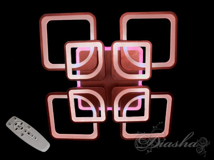 Потолочная LED люстра с димером и цветной подсветкой 170W. Потолочная LED люстра с димером и цветной подсветкой 170W Всего за 2320грн.