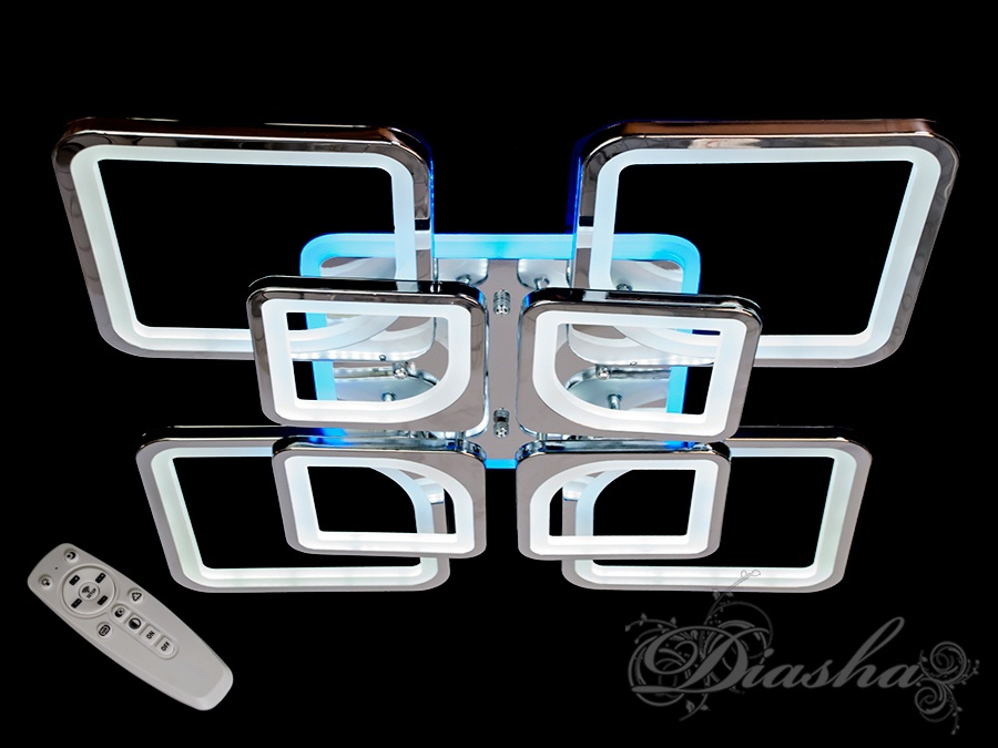 LED люстра с диммером и синей подсветкой, цвет хром, 190W. LED люстра с диммером и синей подсветкой, цвет хром, 190W Всего за 2560грн.