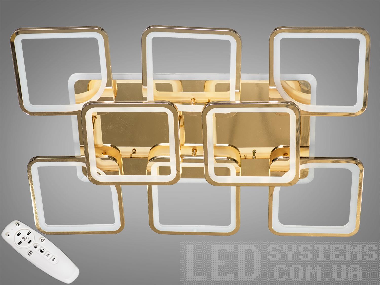 Потолочная люстра с диммером и LED подсветкой, цвет золото, 270WПотолочные люстры, Светодиодные люстры, Люстры LED, Потолочные, Новинки