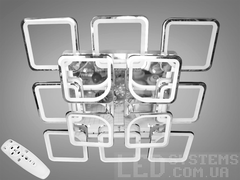 Потолочная люстра с диммером и LED подсветкой, цвет золото, 385WПотолочные люстры, Светодиодные люстры, Люстры LED, Потолочные, Новинки