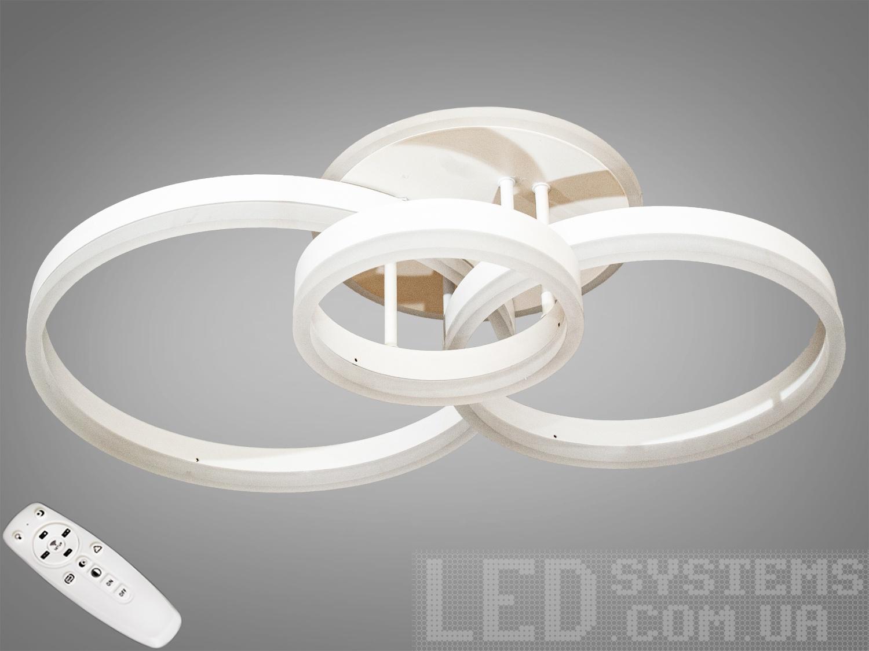 LED-люстра с диммером и RGB подсветкой, 80WПотолочные люстры, Светодиодные люстры, Люстры LED, Потолочные, Новинки
