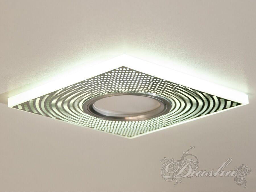 Точечный светильник со встроенной LED подсветкойВрезка, Точечные светильники, Точечные светильники MR-16
