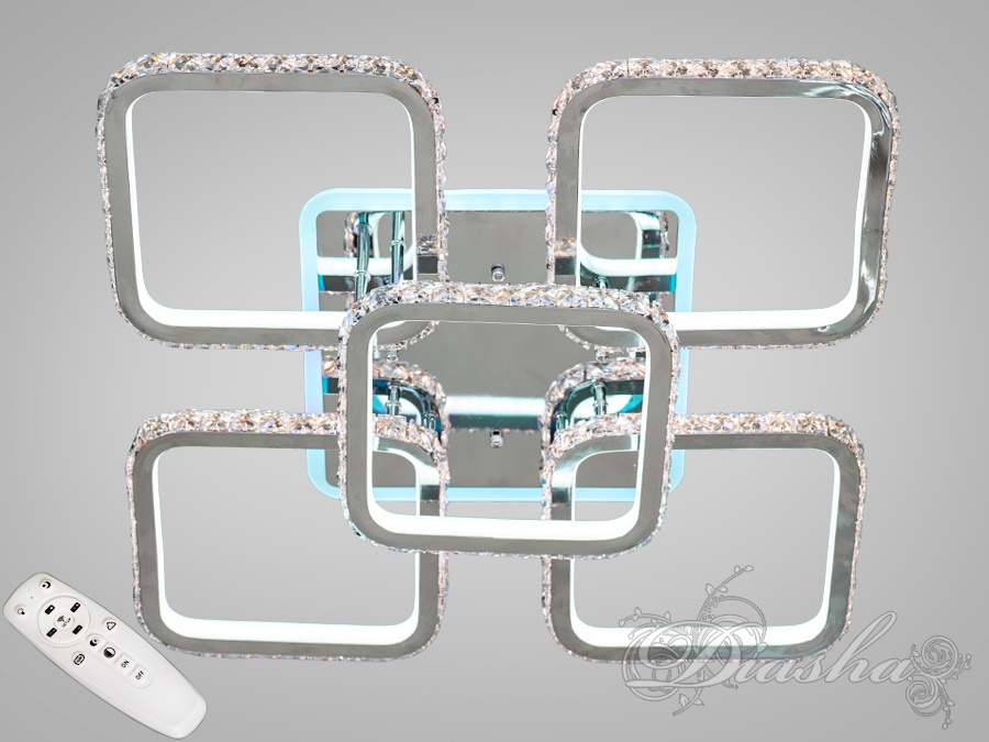 Хрустальная LED-люстра с RGB подсветкой, 230WХрустальные светодиодные люстры, Потолочные люстры, Светодиодные люстры, Люстры LED, Потолочные, Новинки