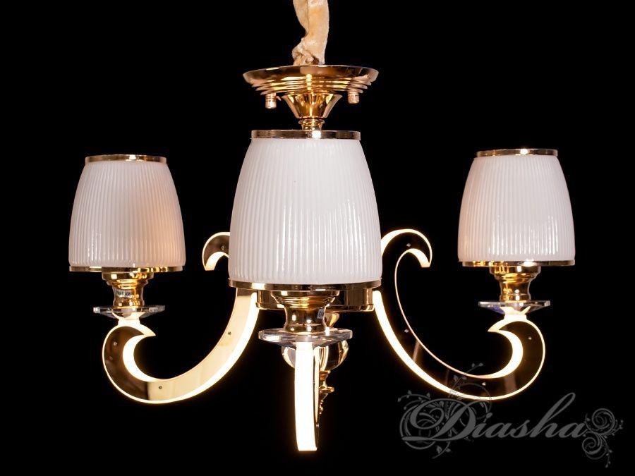 Классическая люстра со светящимися рожками 12WЛюстры классика, Подвесы LED