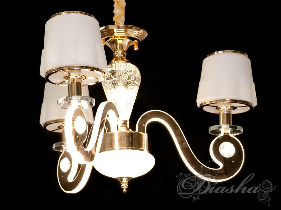Классическая люстра со светящимися рожками 32WЛюстры классика, Подвесы LED, Новинки