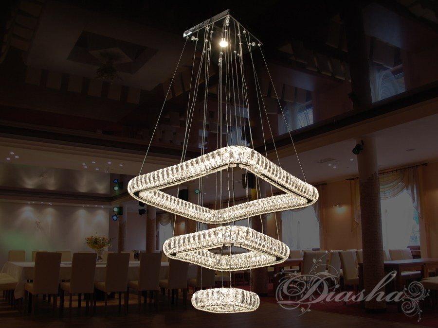 Хрустальная светодиодная люстра-подвес, 100WСветодиодные люстры, Люстры LED, Подвесы LED