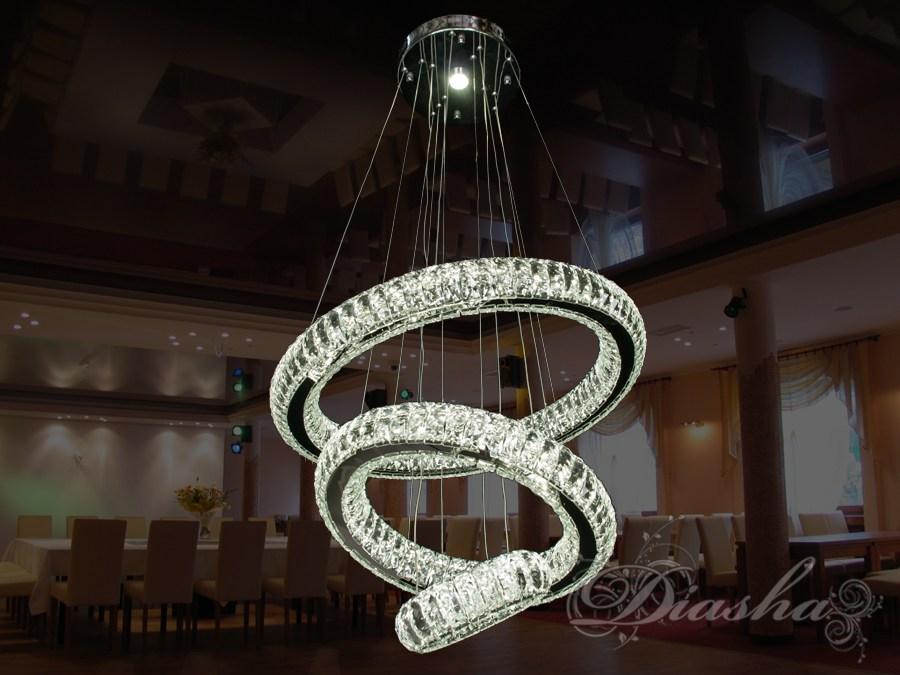 Хрустальная светодиодная люстра-подвес, 95WСветодиодные люстры, Люстры LED, Подвесы LED