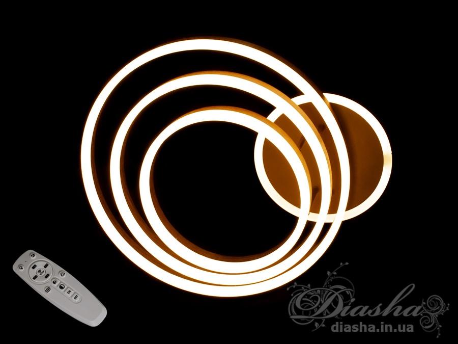 Потолочная LED-люстра с диммером и подсветкой, 100WПотолочные люстры, Светодиодные люстры, светодиодные панели, Люстры LED