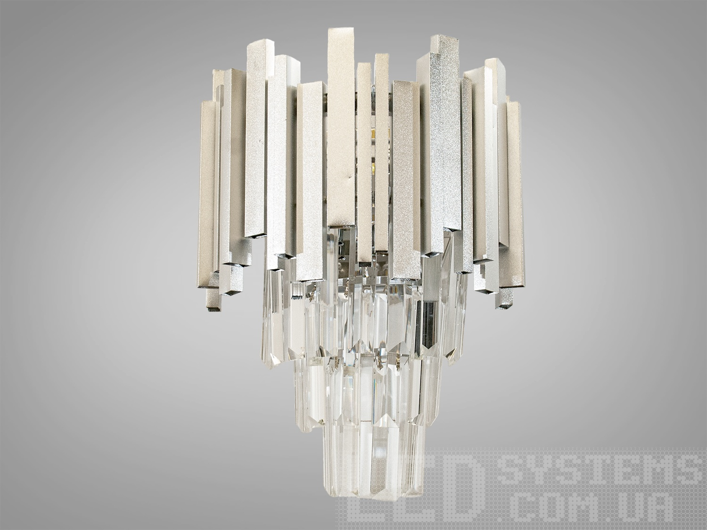 Современный хрустальный настенный светильник бра для спальни, на 2 лампы. Современный хрустальный настенный светильник бра для спальни, на 2 лампы Всего за 1300грн.