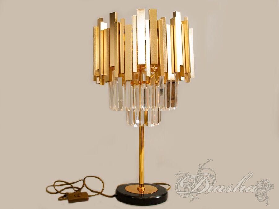 Настольная лампа с хрустальными подвескамиНастольные лампы, Серия 901, Новинки