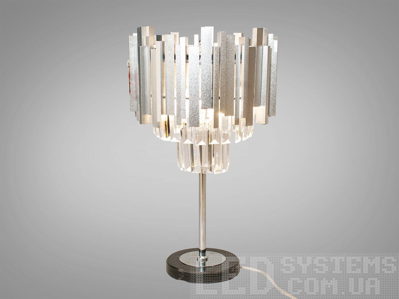 Настольная лампа с хрустальными подвесками на 3 лампы, цвет сатин. Настольная лампа с хрустальными подвесками на 3 лампы, цвет сатин Всего за 2030грн.