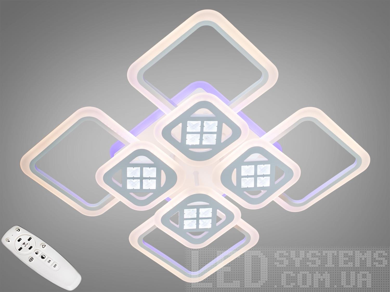 Потолочная светодиодная люстра с диммером 200WПотолочные люстры, Светодиодные люстры, Люстры LED, Потолочные, Новинки