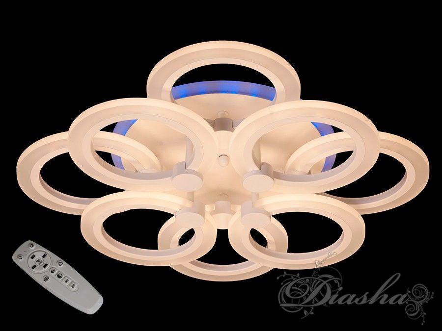 Потолочная LED-люстра с диммером и подсветкой, 95W. Потолочная LED-люстра с диммером и подсветкой, 95W Всего за 1720грн.