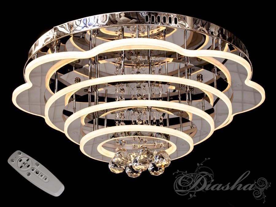 Светодиодные люстры «торт» с димером, 180WПотолочные люстры, Люстра