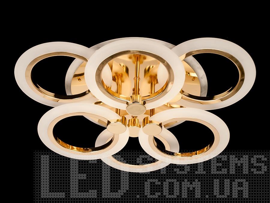 Акриловый потолочный светильник с LED подсветкой, цвет золото, 75W на 11 кв.мПотолочные люстры, Светодиодные люстры, Люстры LED, Потолочные, Новинки