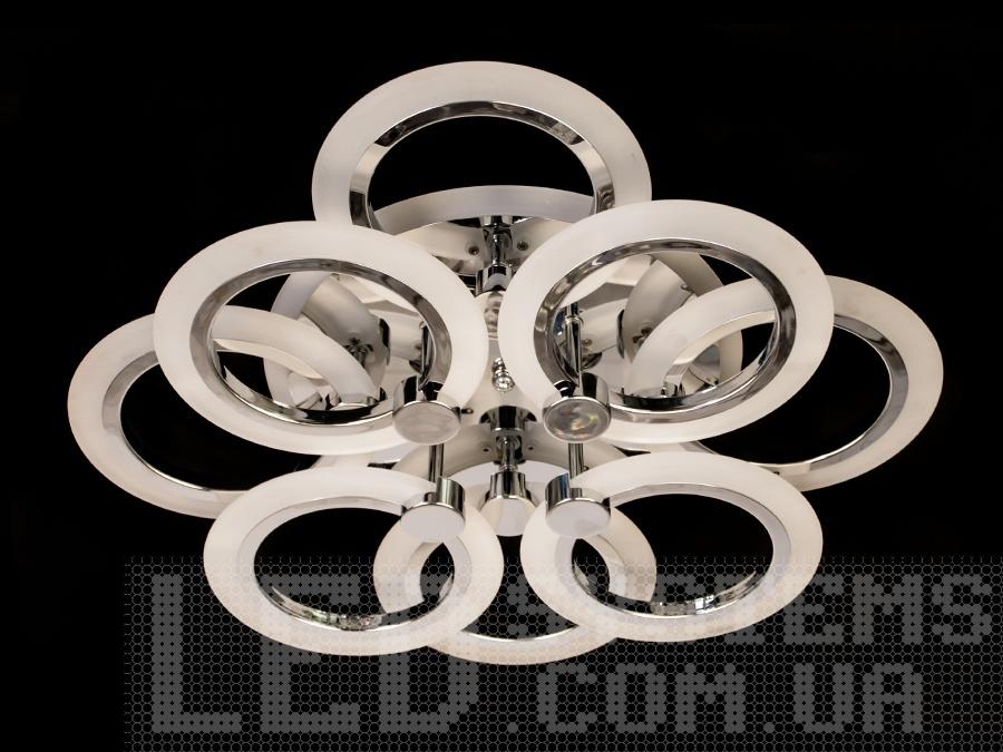 LED-люстра c кругами и подсветкой, цвет хром, 90W на 13 кв.м. LED-люстра c кругами и подсветкой, цвет хром, 90W на 13 кв.м Всего за 2070грн.