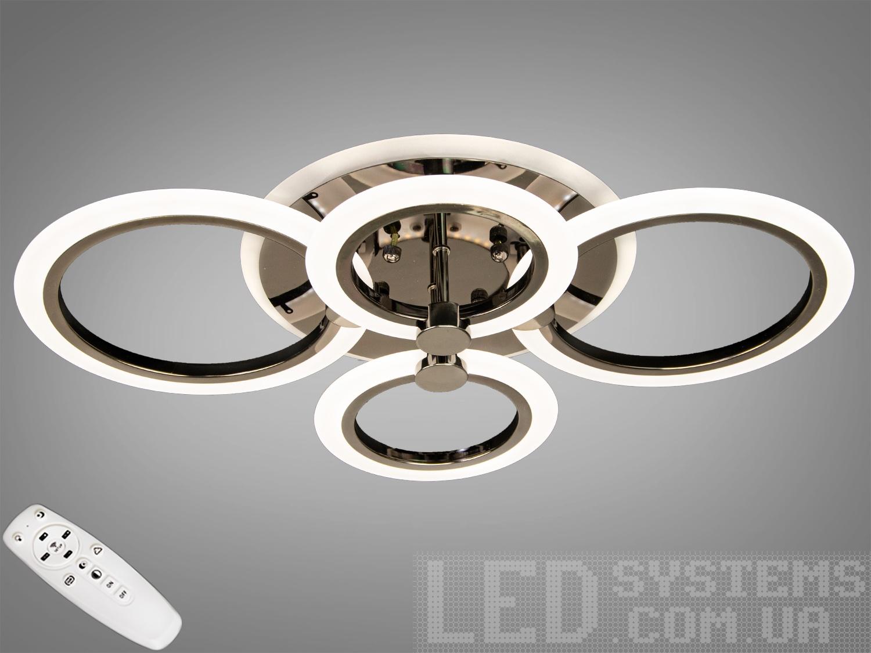 LED-люстра с диммером и RGB подсветкой, 60WСерия 8022, Потолочные люстры, Светодиодные люстры, Люстры LED, Потолочные, Новинки