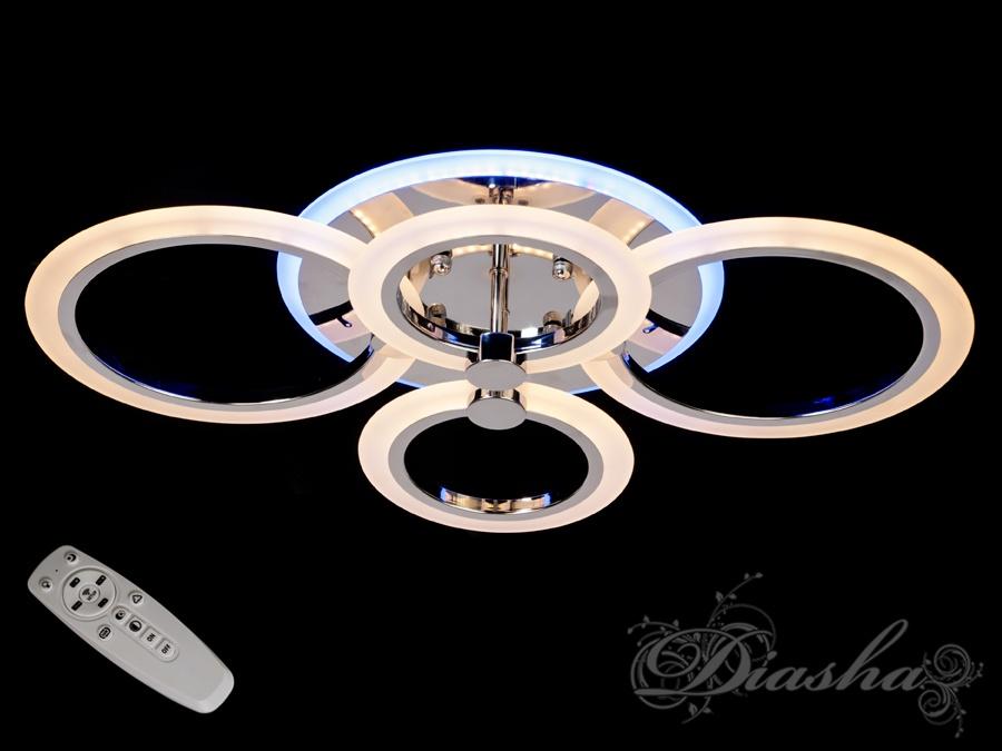LED-люстра с диммером и цветной подсветкой, цвет хром, 70W. LED-люстра с диммером и цветной подсветкой, цвет хром, 70W Всего за 1760грн.
