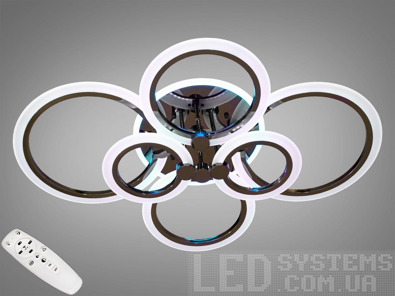 LED-люстра с диммером и RGB подсветкой, 150WСерия 8022, Потолочные люстры, Светодиодные люстры, Люстры LED, Потолочные, Новинки