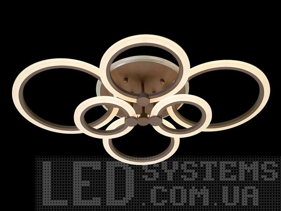 Потолочная люстра с подсветкой в стиле модерн, цвет коричневый, 105W на 15м2. Потолочная люстра с подсветкой в стиле модерн, цвет коричневый, 105W на 15м2 Всего за 2440грн.