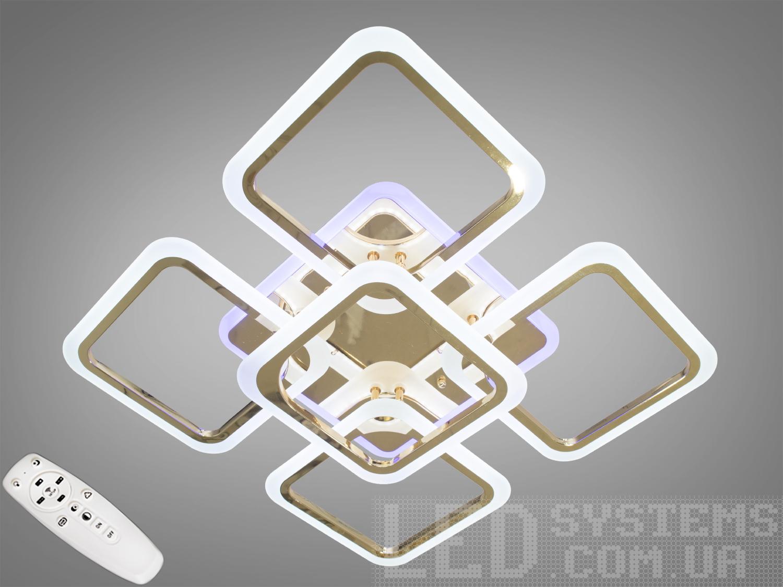 Потолочная люстра с диммером и LED подсветкой, цвет золото, 120WПотолочные люстры, Светодиодные люстры, Люстры LED, Потолочные, Новинки