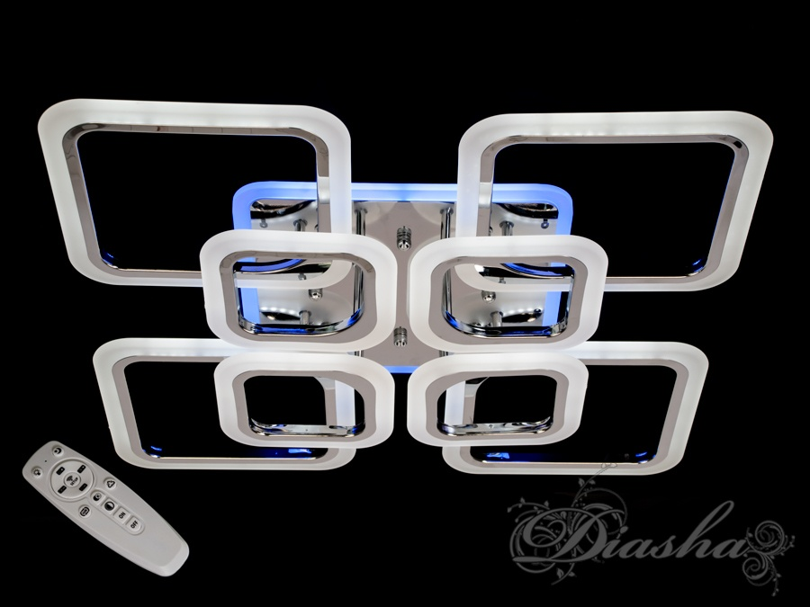 LED-люстра с диммером и синей подсветкой, цвет хром, 150W. LED-люстра с диммером и синей подсветкой, цвет хром, 150W Всего за 2560грн.