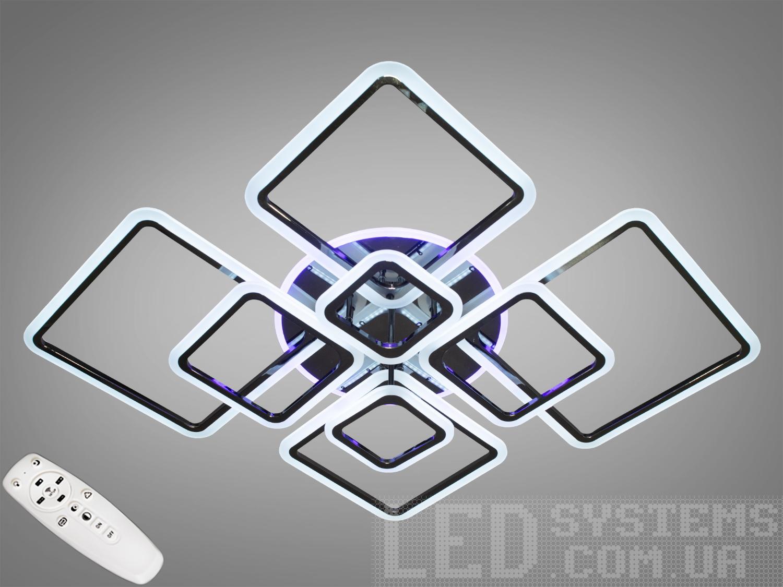 Потолочная LED-люстра с диммером и подсветкой, 235WПотолочные люстры, Светодиодные люстры, Люстры LED, Потолочные